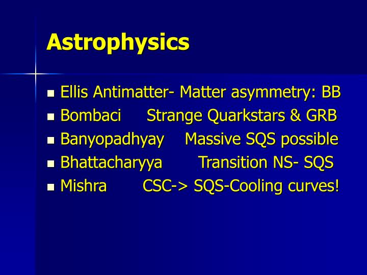 Astrophysics