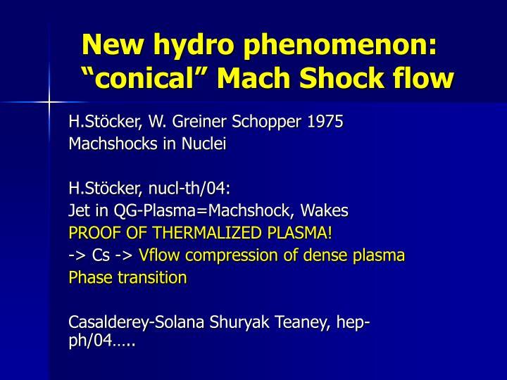 New hydro phenomenon:
