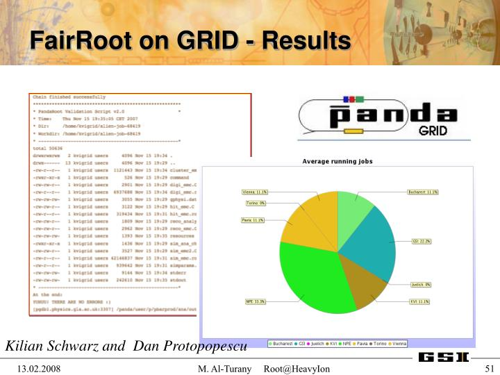 FairRoot on GRID - Results
