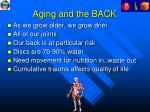 aging and the back