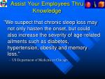assist your employees thru knowledge1