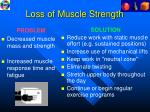 loss of muscle strength