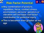 risk factor potential