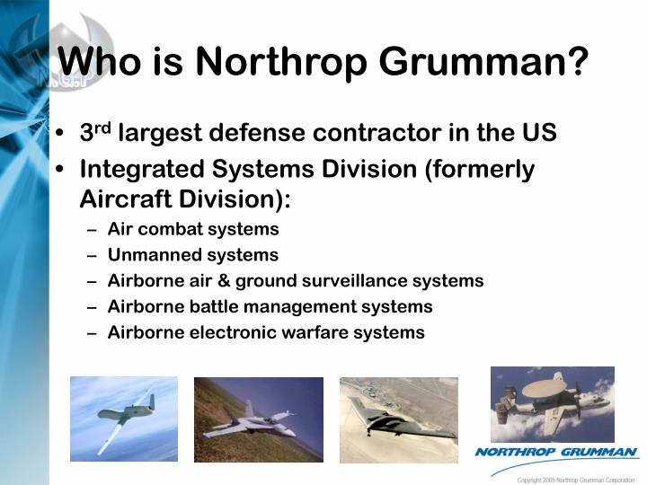 northrop grumman security plan essay Northrop grumman is a leading global security company providing innovative systems, products and solutions in unmanned systems, cyber, c4isr, and logistics and modernization to government and.