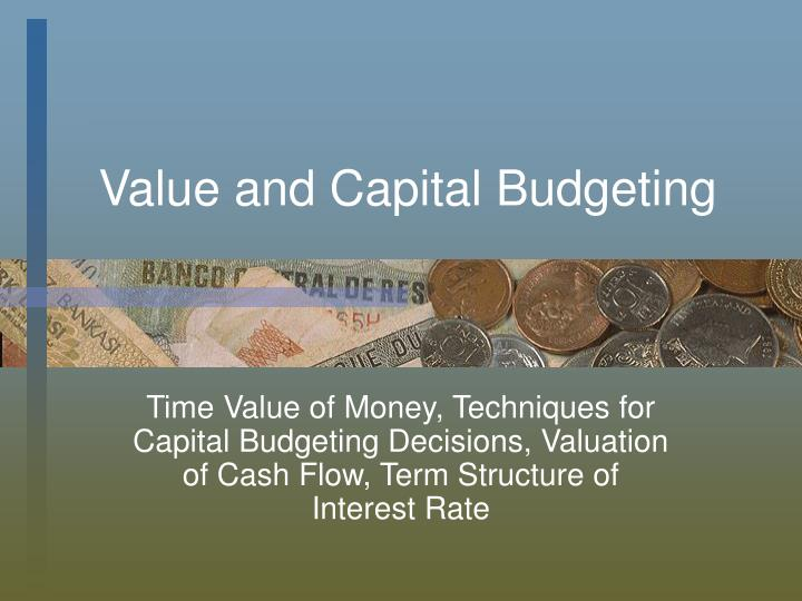 value and capital budgeting n.