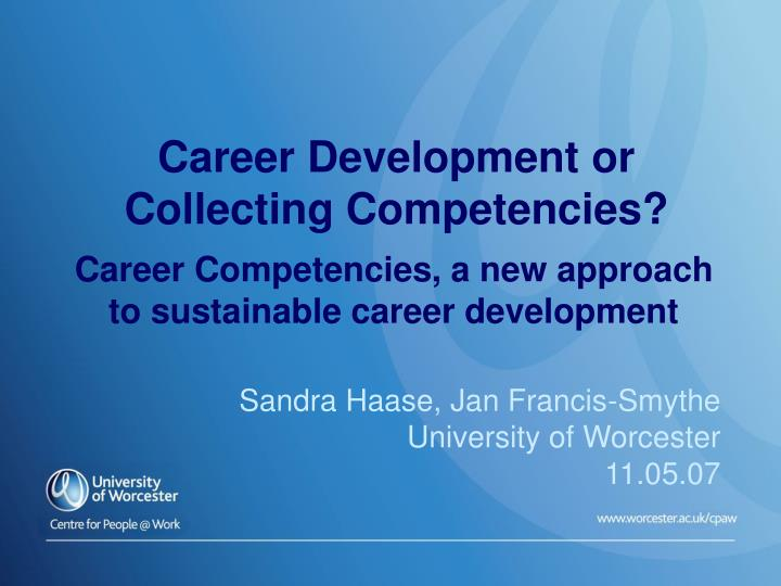 career competencies 1 introduction to career counseling competency statements these competency statements are for those professionals interested and trained in the field of career.