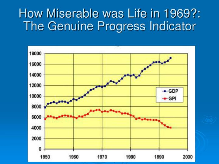genuine progress indicator Potential use of well-being indicators for community development in japan and other social or subjective indicators such as genuine progress indicator.
