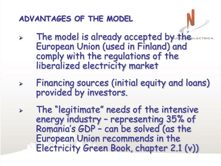 ADVANTAGES OF THE MODEL