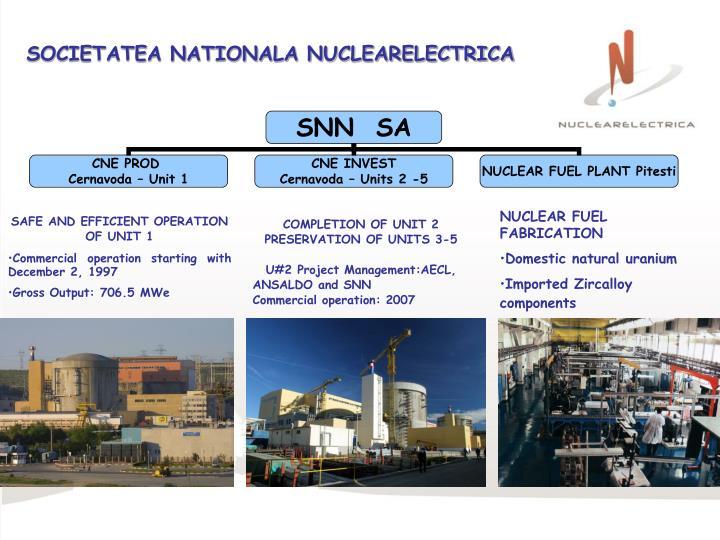 SOCIETATEA NATIONALA NUCLEARELECTRICA