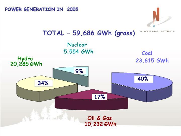 POWER GENERATION IN  2005
