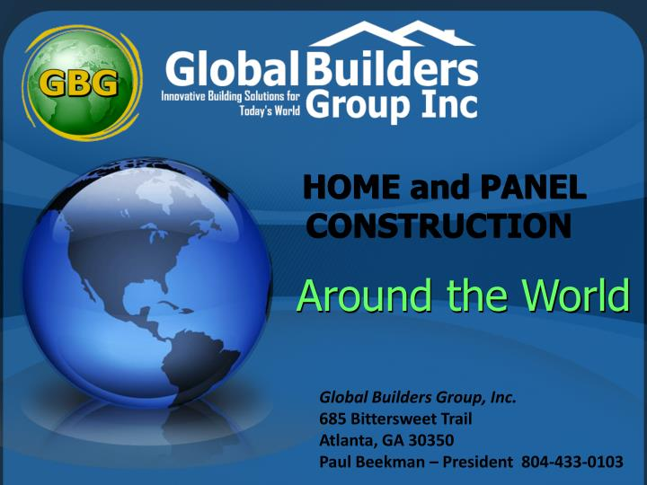 home and panel construction n.