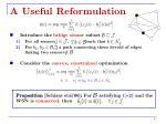 a useful reformulation