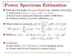 power spectrum estimation