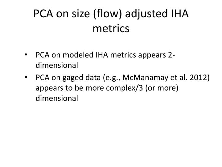 PCA on size (flow) adjusted