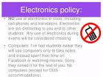 electronics policy