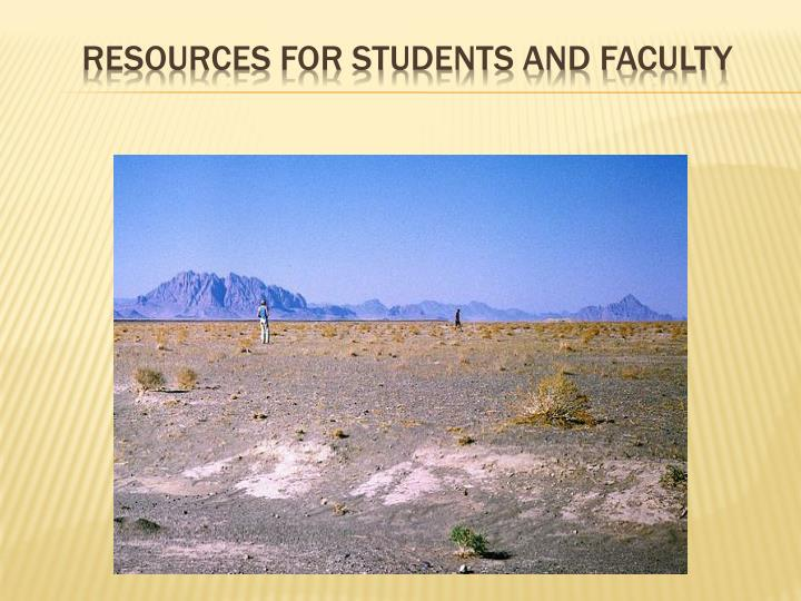 Resources for students and faculty