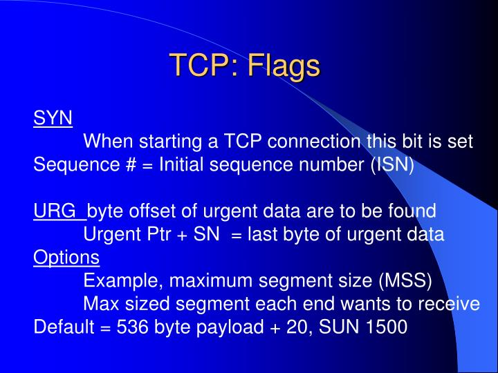 TCP: Flags