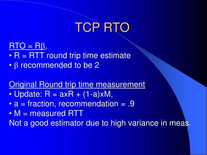 TCP RTO