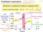 feshbach resonance