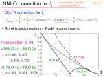 nnlo correction for x