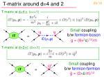 t matrix around d 4 and 2
