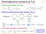 thermodynamic functions at t 0