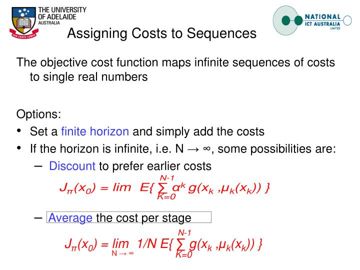 Assigning Costs to Sequences