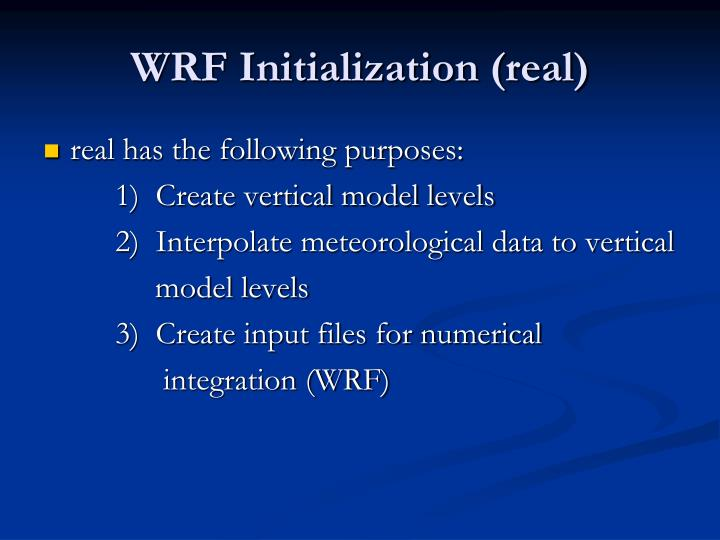 WRF Initialization (real)