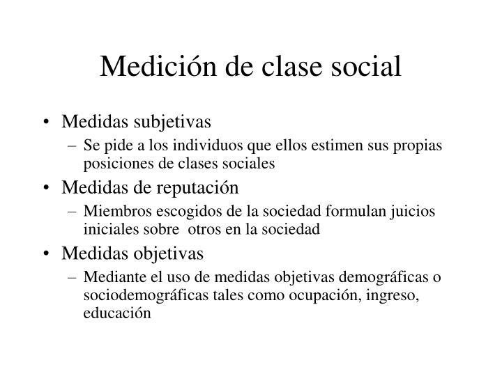Medici n de clase social