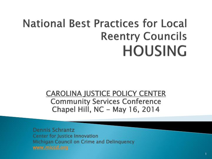 national best practices for local reentry councils housing n.