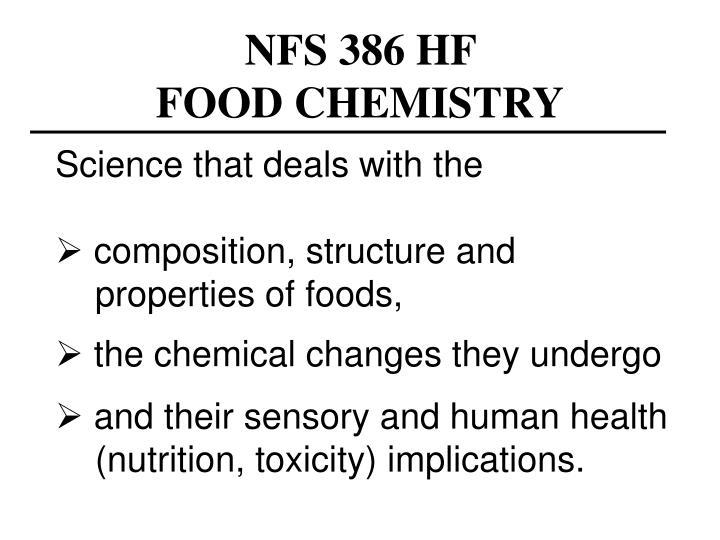 Nfs 386 hf food chemistry