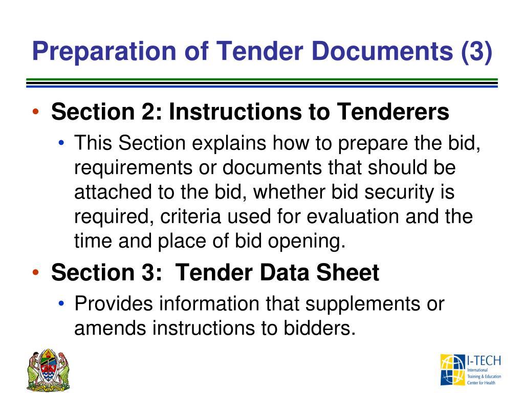 Tender Evaluation Sheet
