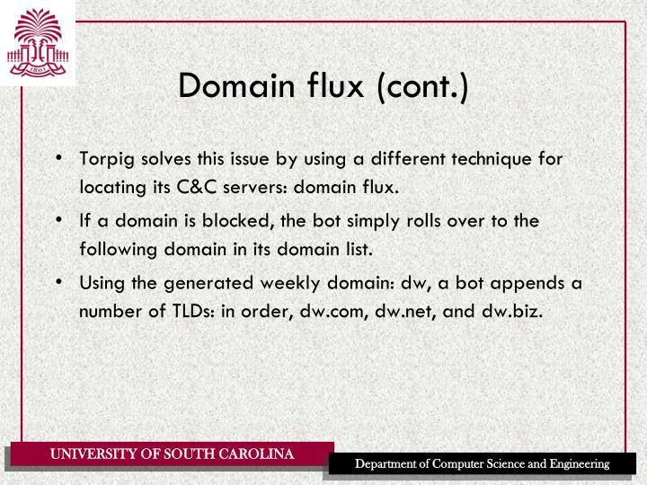 Domain flux (cont.)