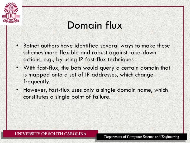 Domain flux