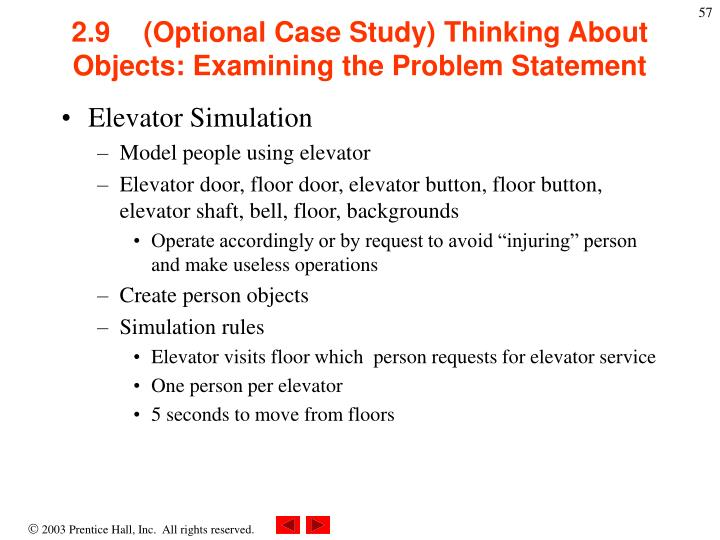 2.9(Optional Case Study) Thinking About Objects: Examining the Problem Statement