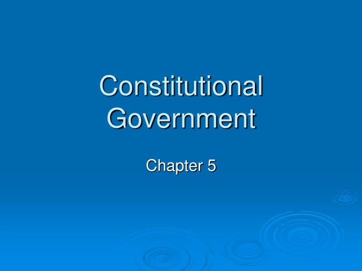 constitutional government n.