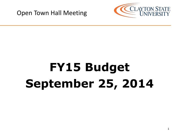 open town hall meeting n.
