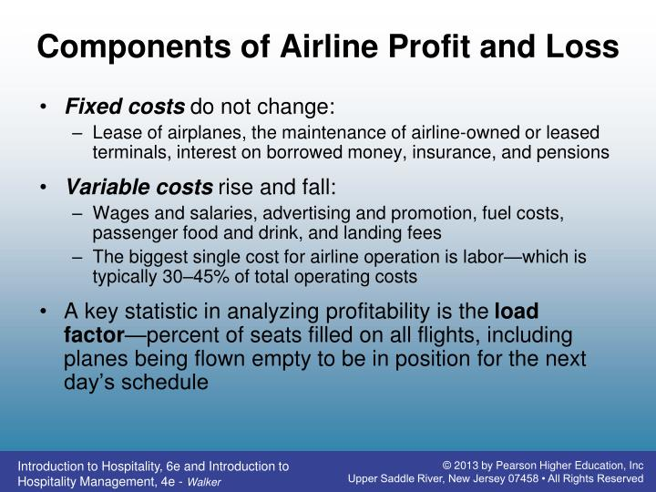 Components of Airline Profit and Loss