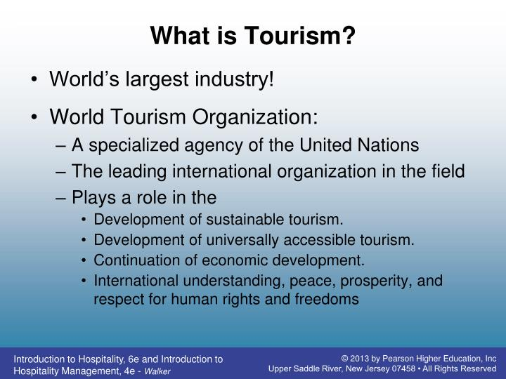 What is tourism