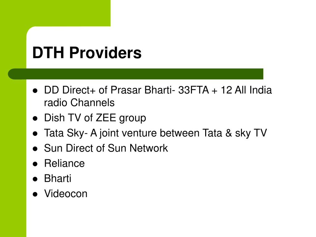 PPT - Cable TV Services, DTH, IPTV, HITS PowerPoint