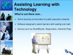 assisting learning with technology