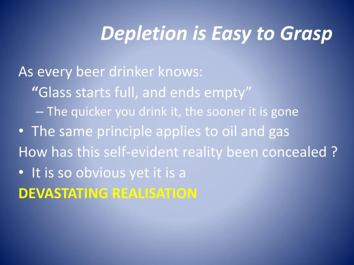 Depletion is Easy to Grasp