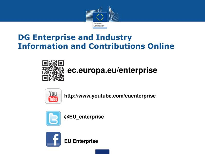 DG Enterprise and Industry