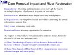 dam removal impact and river restoration