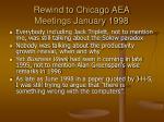 rewind to chicago aea meetings january 1998