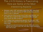 the j h s history is fascinating here are some of the most interesting aspects