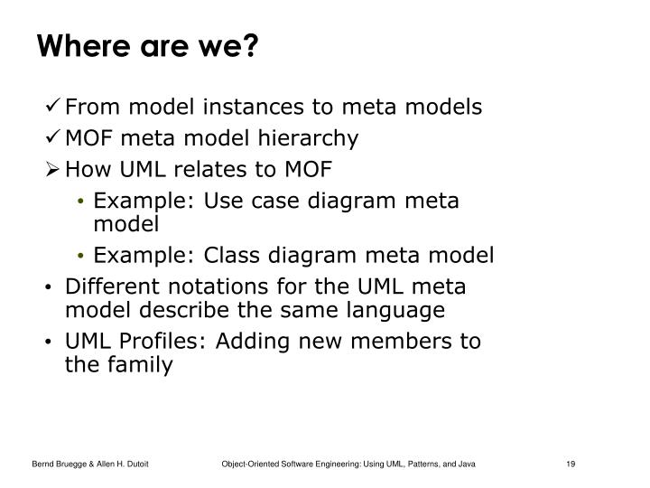 Ppt chapter 2 modeling with uml part 4 uml 2 metamodel from model instances to meta models mof meta model hierarchy ccuart Images