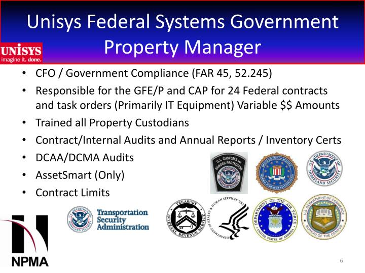 PPT - GOVERNMENT PROPERTY FROM A CONTRACT PROPERTY MANAGER AND ...