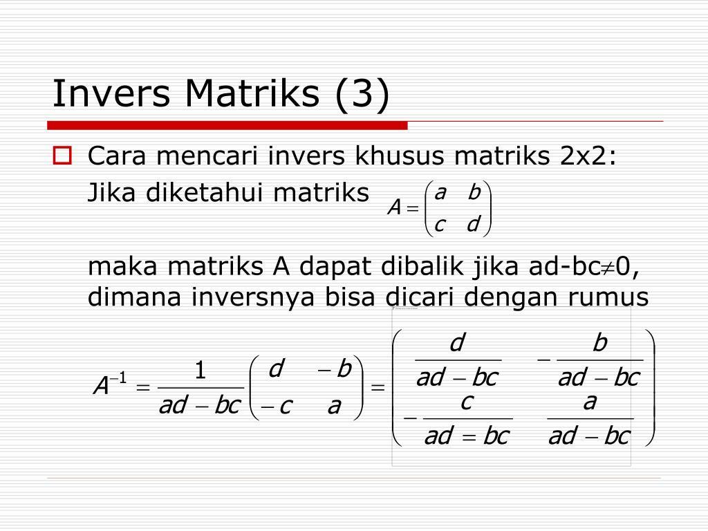 Cara Mengerjakan Invers Matriks 3x3 - Guru Ilmu Sosial
