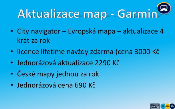 Aktualizace map - Garmin